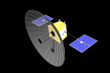 Artist Impression Of An Oberon Project Spacecraft