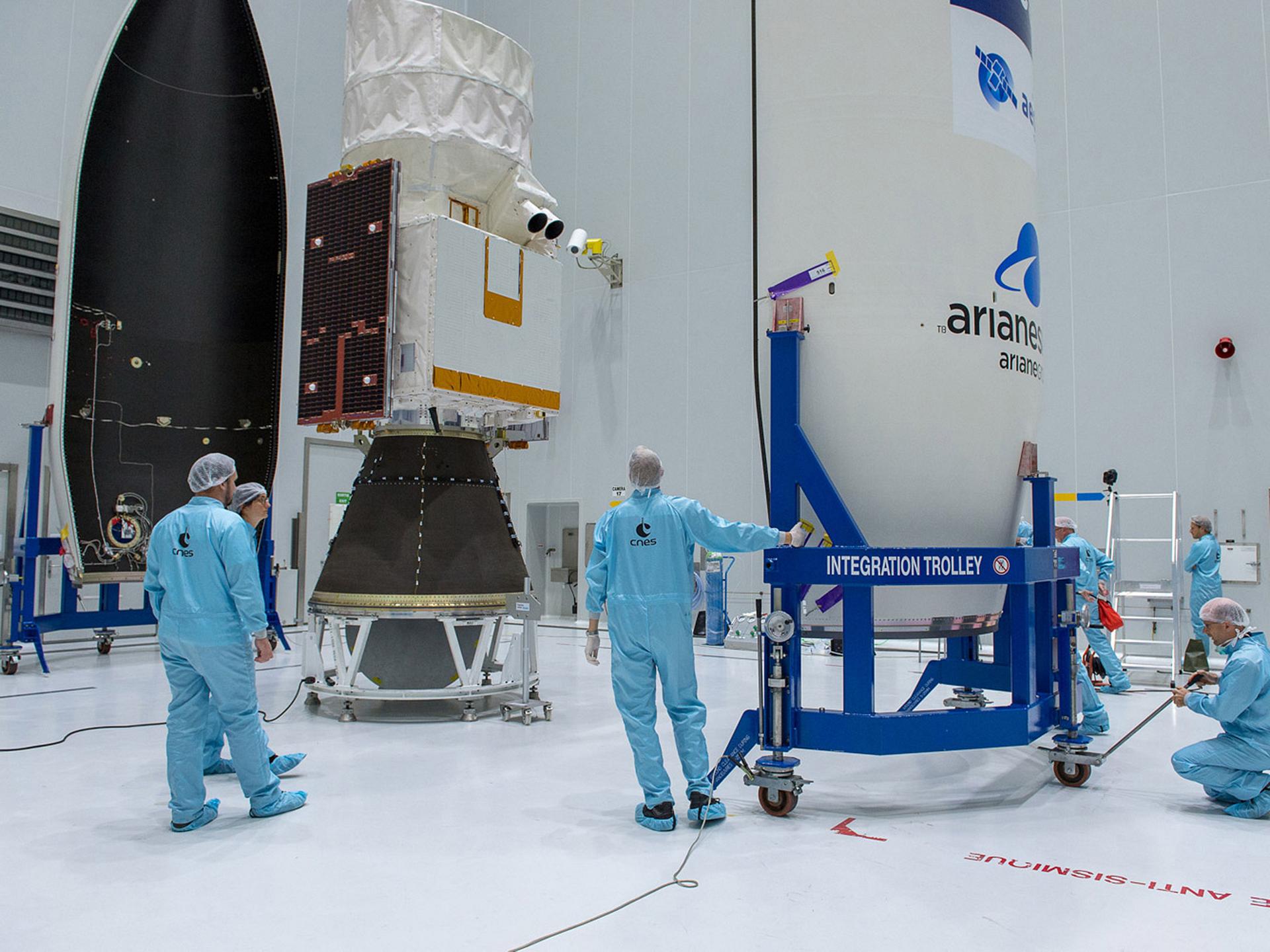 Aeolus Encapsulation Copyright ESA CNES