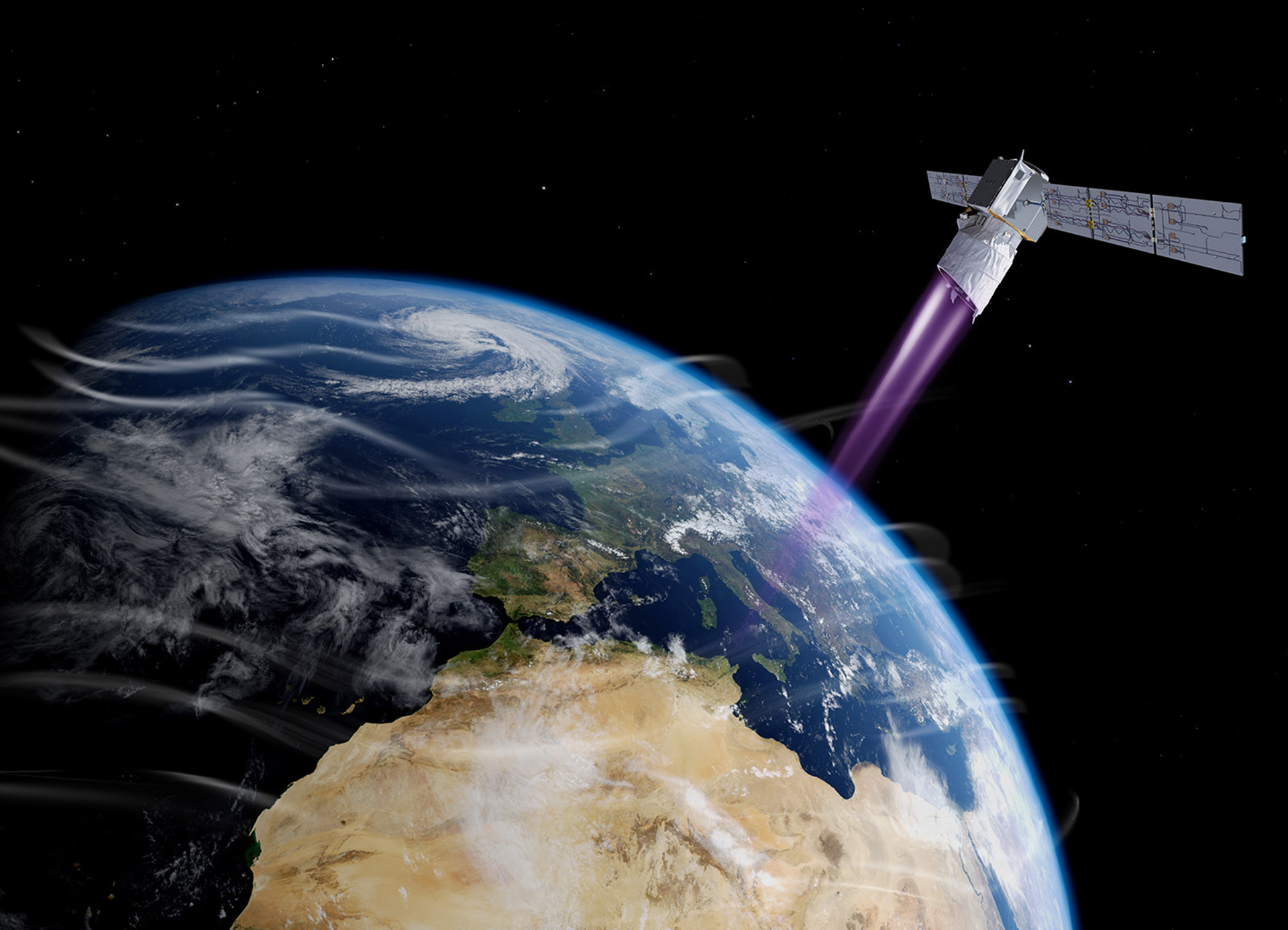 Aeolus is the world's first satellite to study the Earth's wind patterns from space to improve weather forecasting accuracy. This unique mission provides reliable wind-profile information on a global scale to take meteorological forecast to the next step.