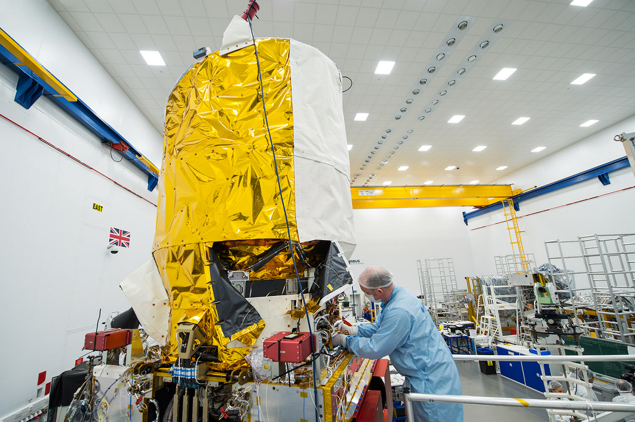 ESA's wind sensing satellite Aeolus under construction in Stevenage