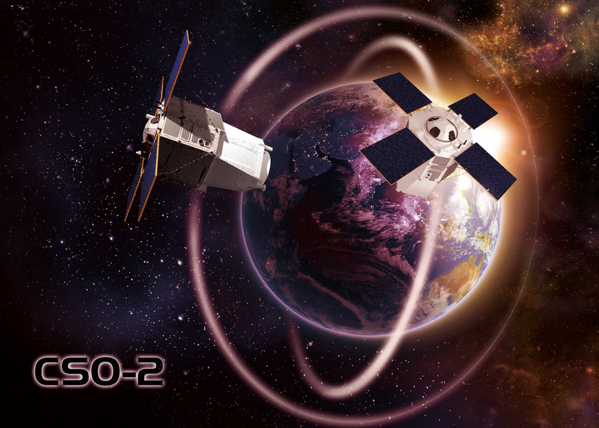 CSO-2 is the second of the three-satellite CSO constellation, which will provide extremely high resolution geo information intelligence to the French Armed Forces and to its partners in the frame of the MUSIS cooperation programme (Multinational Space-based Imaging System for surveillance, reconnaissance and observation).
