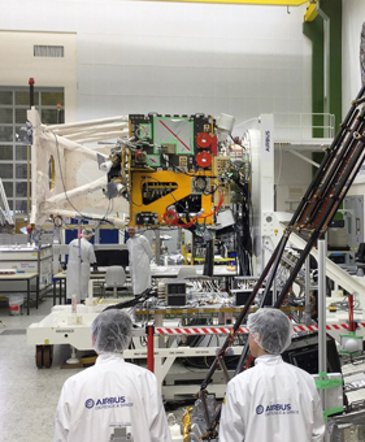 EarthCARE (Earth Clouds, Aerosols and Radiation Explorer)  in production