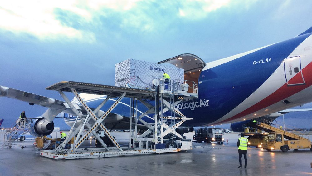Grace-FO satellites - Loading into Airplane