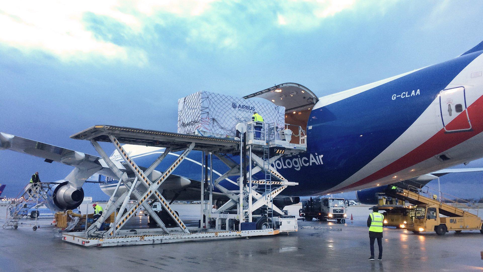 Grace-FO satellites - Loading into Airplane