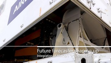 MetOp-SG-B structure arrival in Friedrichshafen