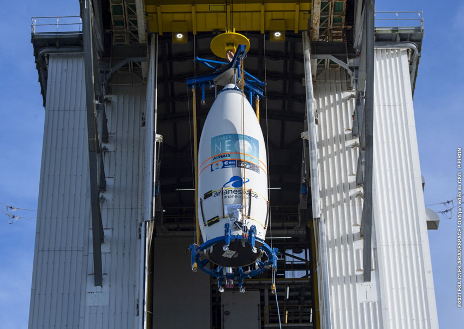 Pléiades Neo 4, the second satellite of the Pléiades Neo Earth observation constellation, was successfully launched by Arianespace's European launcher Vega from French Guiana last night. ©2021 ESA-CNES-ARIANESPACE