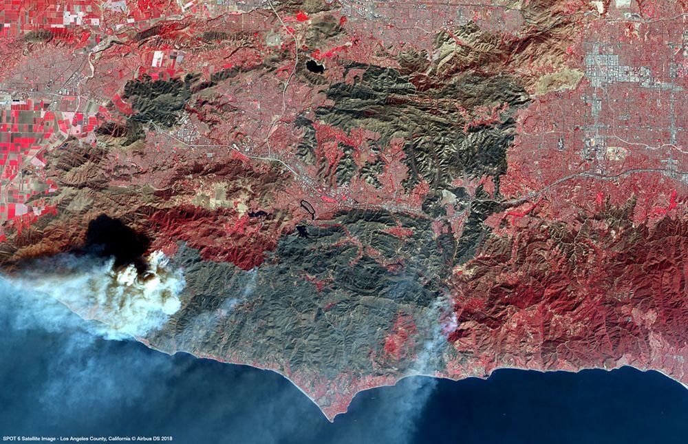 Satellite Image Spot6 Woolsey Fire Malibu
