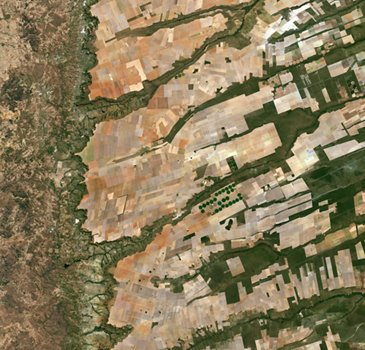 Central Eastern Brazil image from Sentinel-2A satellite