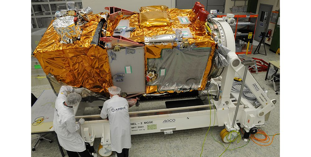 Sentinel-2A ready for testing, Sentinel-2A satellite ready to undergo a series of environmental tests