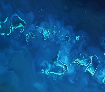 Great Barrier Reef image from Sentinel-2A satellite