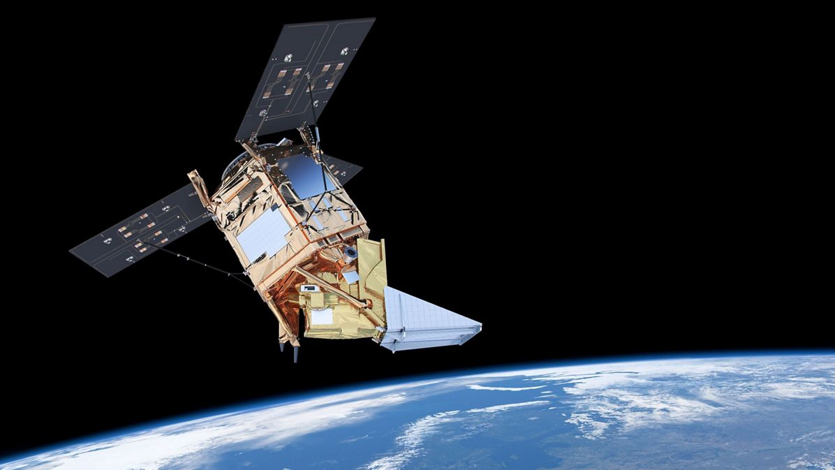 Sentinel 5 Precursor in Orbit - Artist view