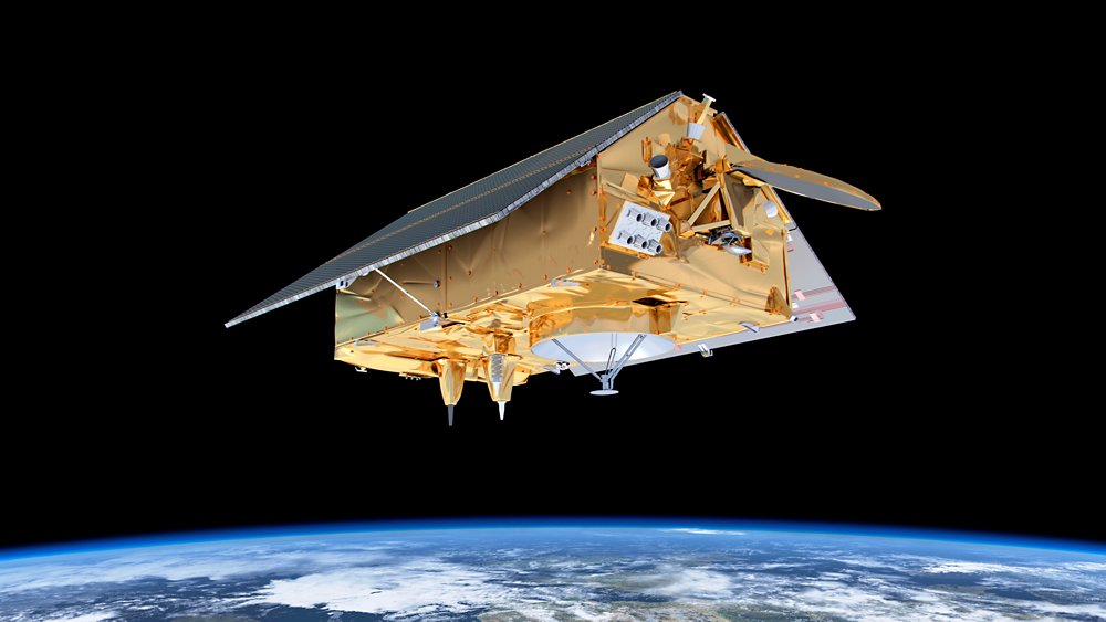 Artist view of Sentinel-6A in space