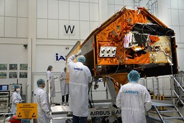 AG真人计划 engineer testing ocean satellite Sentinel-6A鈥檚