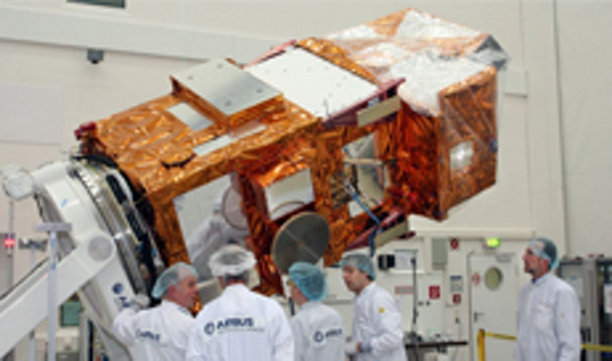 Sentinel- 2A satellite in Airbus cleanroom