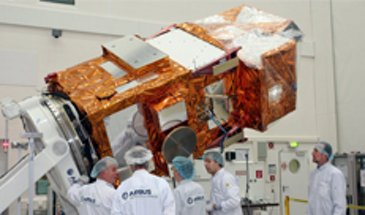 Sentinel- 2A satellite in Airbus cleanroom