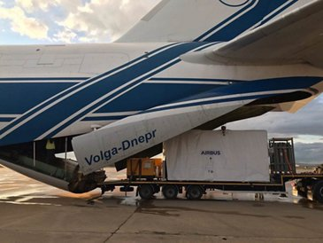 SEOSAT Ingenio Loading into cargo plane