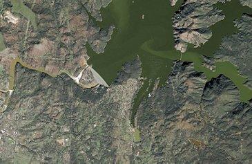 SPOT6 Satellite Image - Oroville Lake Reservoir, USA - February 14th 2017