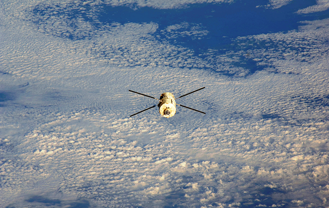 "ATV-5 ""Georges Lemaître"" in space"