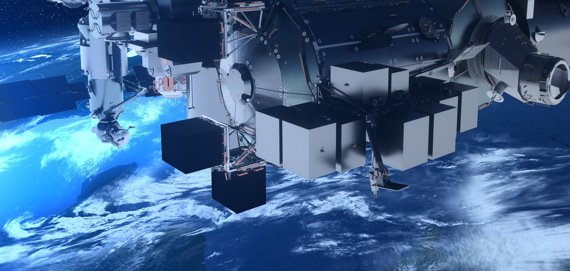 Bartolomeo enables the hosting of external payloads in low-Earth orbit, on-board the International Space Station ISS.