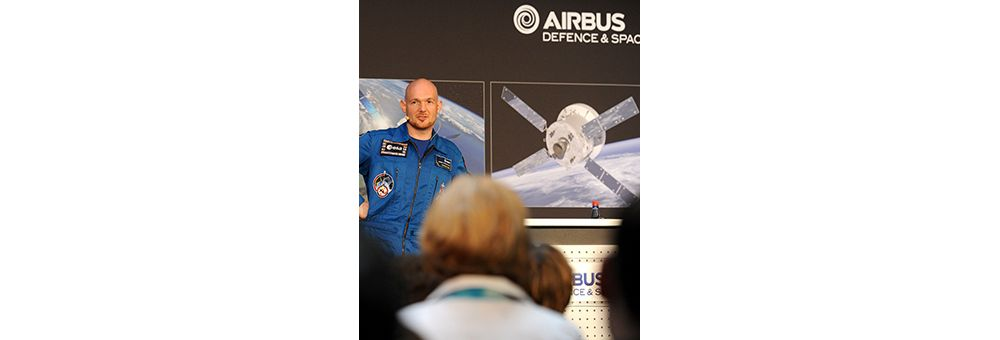 German ESA astronaut Alexander Gerst visiting Airbus Bremen on his post-flight-tour
