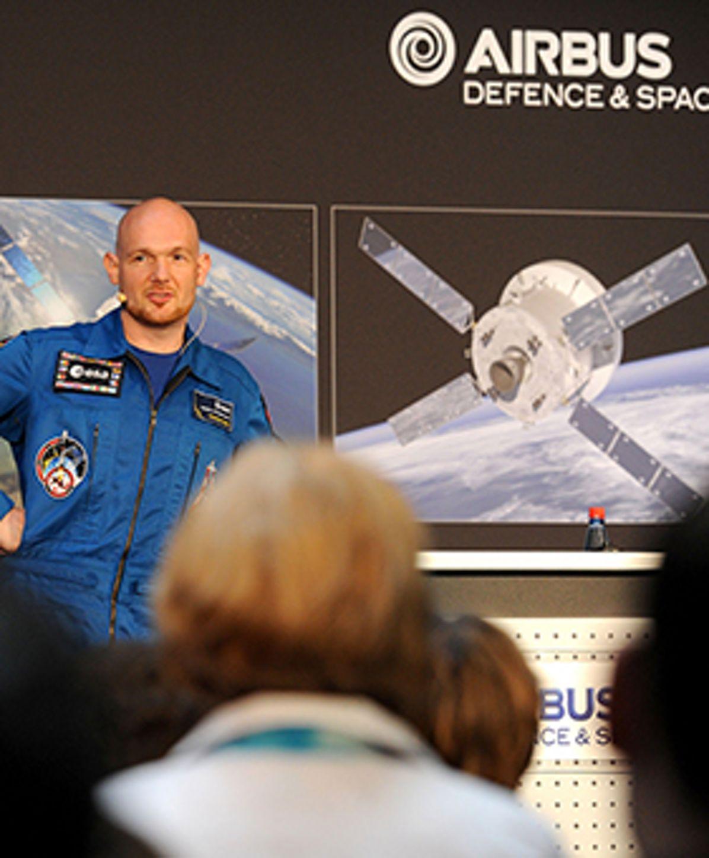 German ESA astronaut Alexander Gerst visiting Airbus Bremen on his post-flight-tour