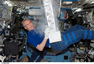 German Astronaut Thomas Reiter working with Melfi