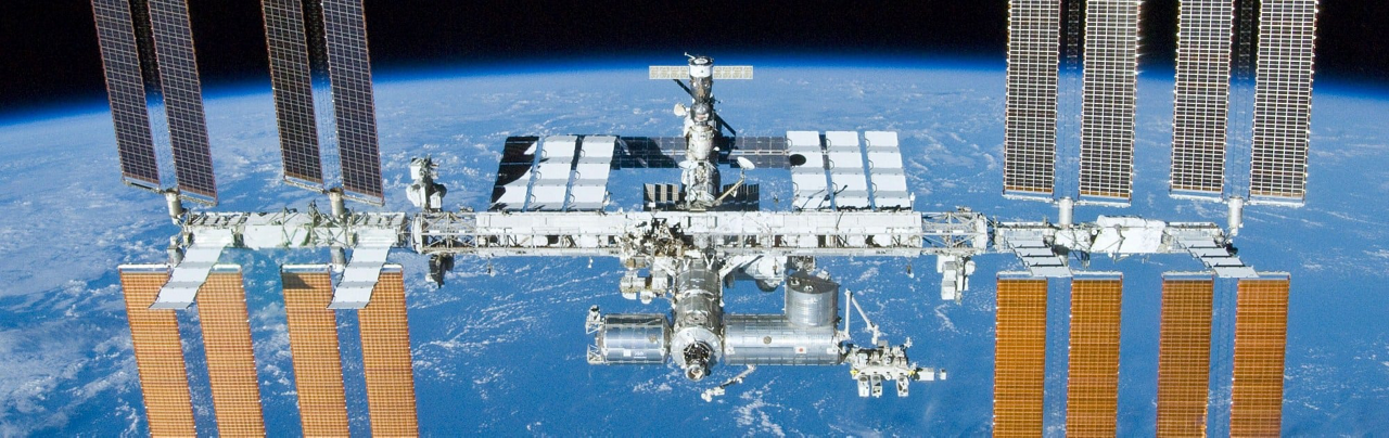Airbus leads Europe's contribution to the International Space Station (ISS), shown here in orbit.