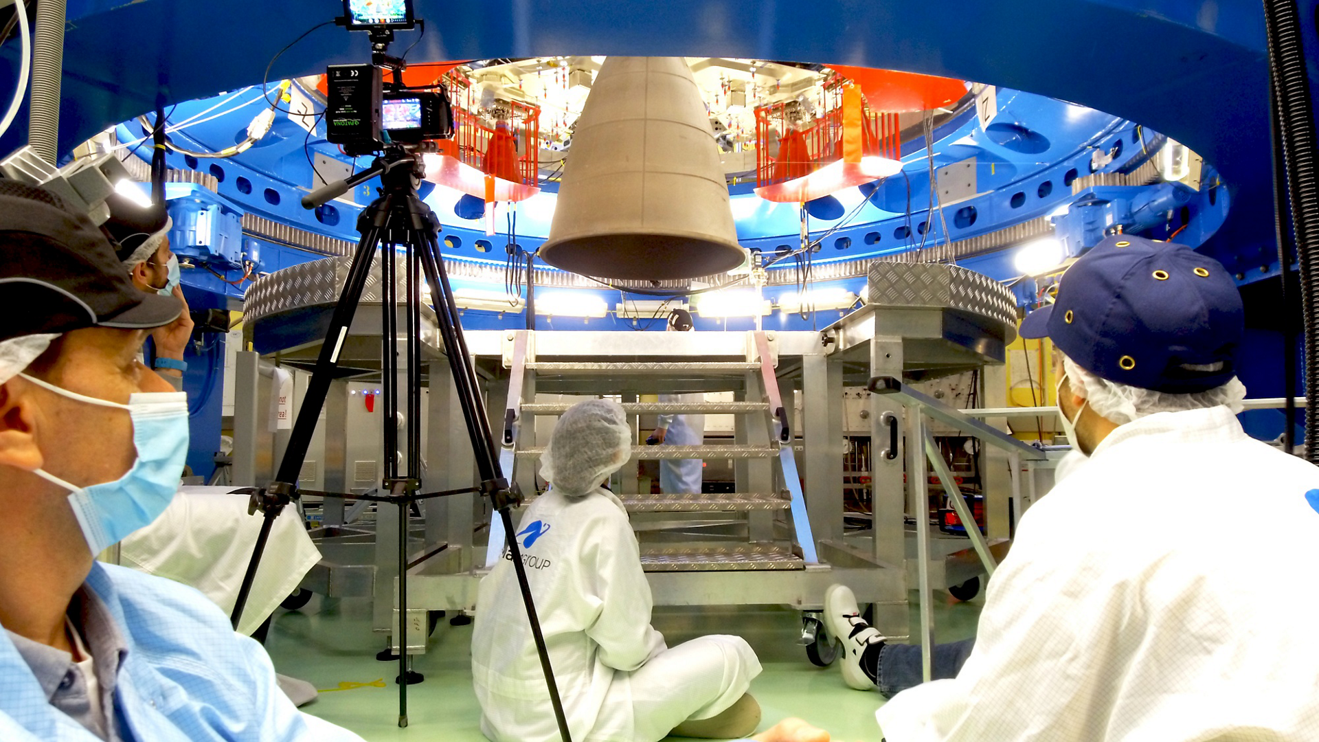 A view from the bottom of the ESM-2 European Service Module flight model.