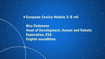Orion European Service Module 3 - B roll