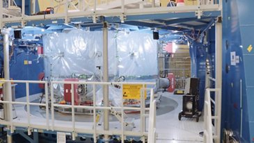 Footage Orion-ESM Flight Model 2 Delivery