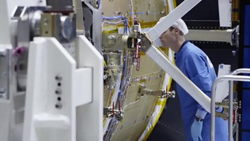 Orion ESM Solar Array Deployment Test