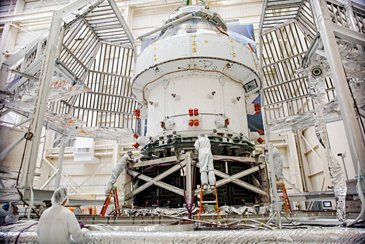 Orion spacecraft for Artemis I tests at NASA