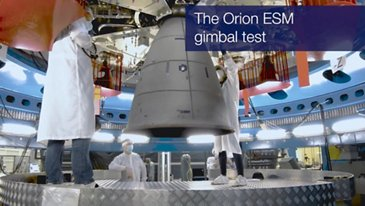 Orion ESM Gimbal Test