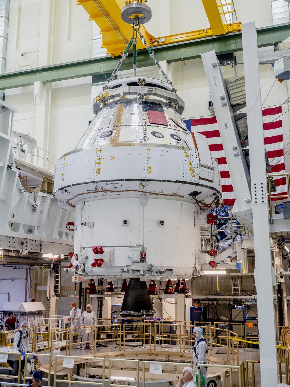 "Orion ""takes off"" the integration stand"