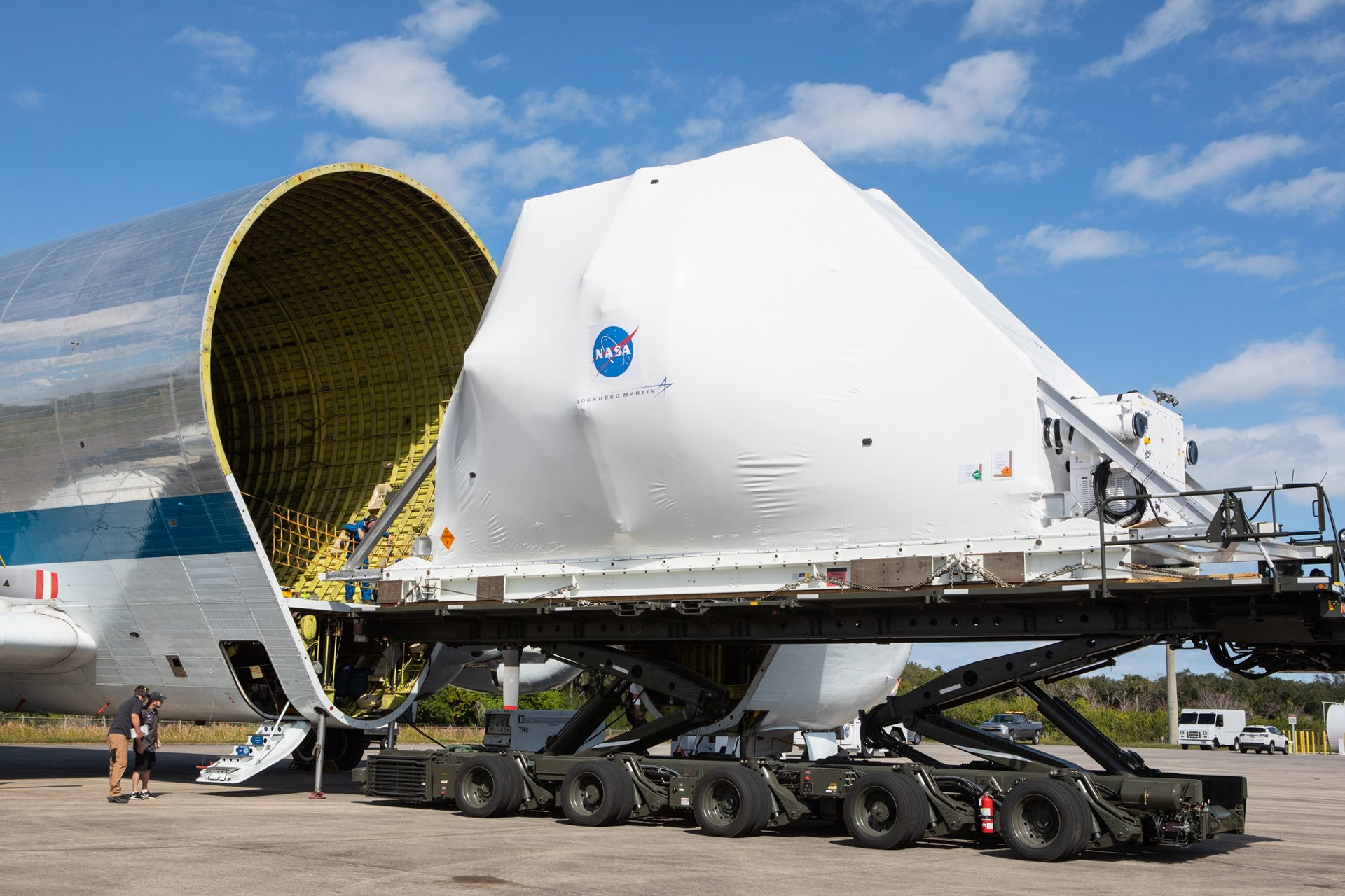 First voyage for spaceship Orion