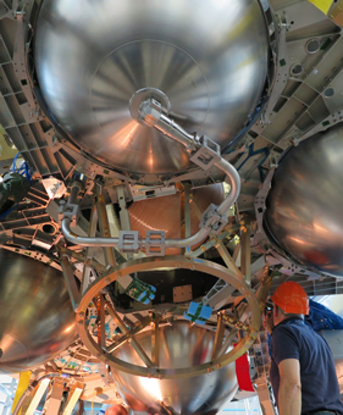 Orion ESM – structural test model ready for shipment