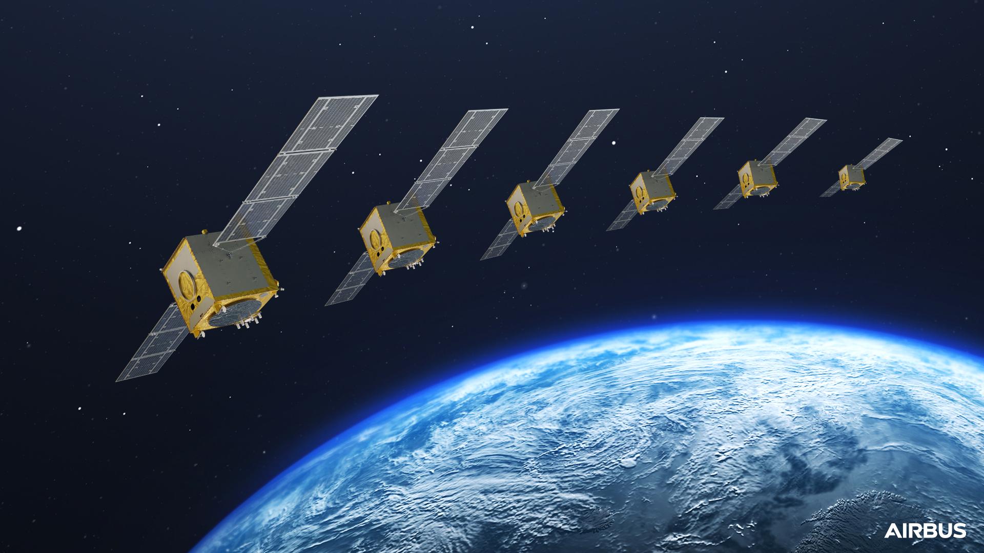 Galileo Satellite Batch In Orbit