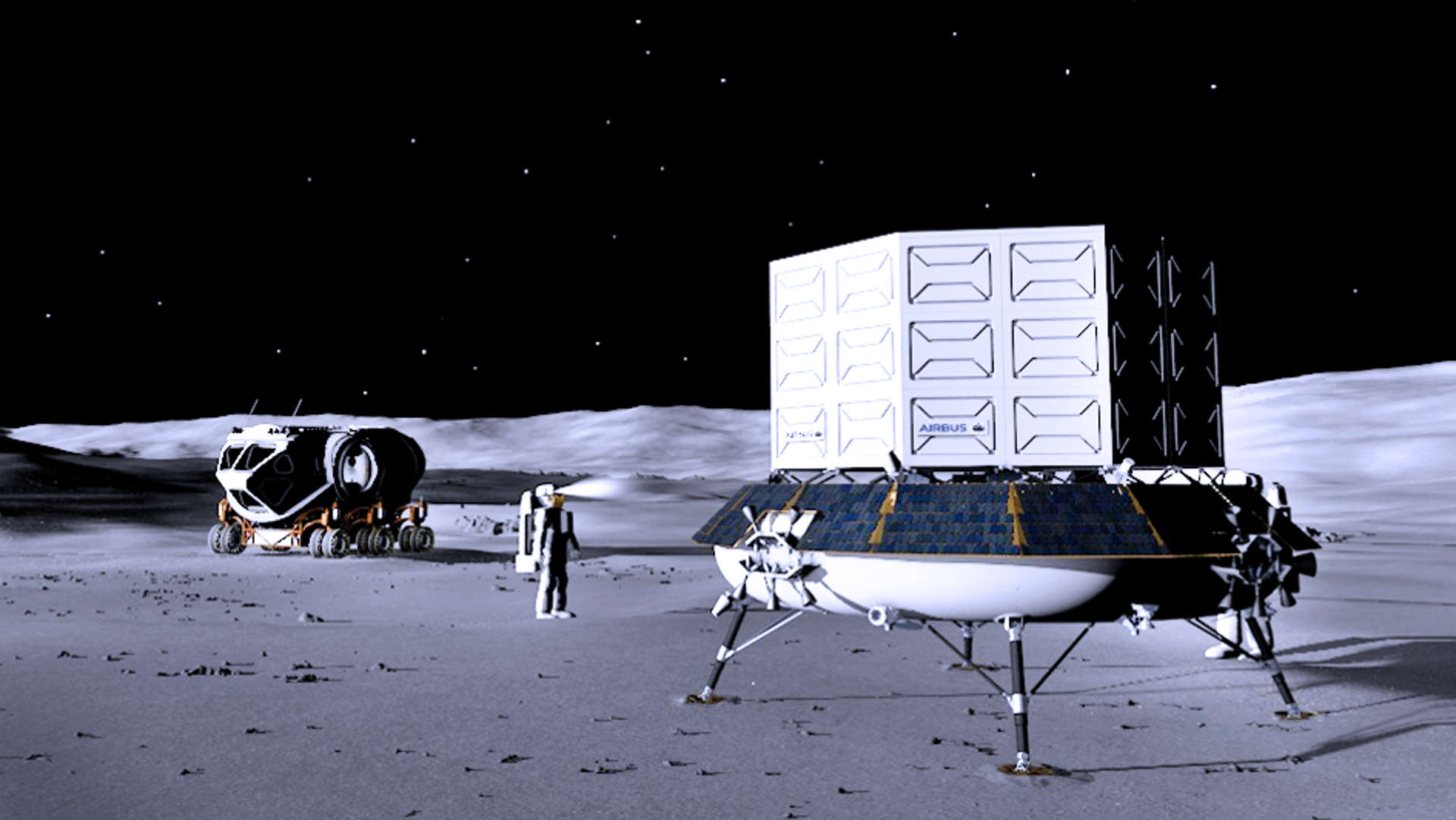 Airbus will develop the concept of a large multi-role logistic lander able to transport up to 1.7 tons of cargo to any location on the lunar surface.