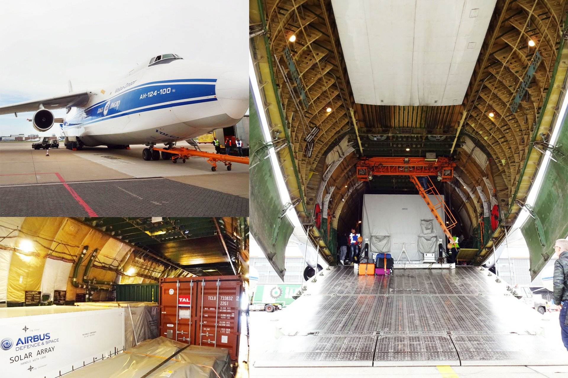 The first elements of the BepiColombo hardware were loaded into an Antonov An-124 cargo plane