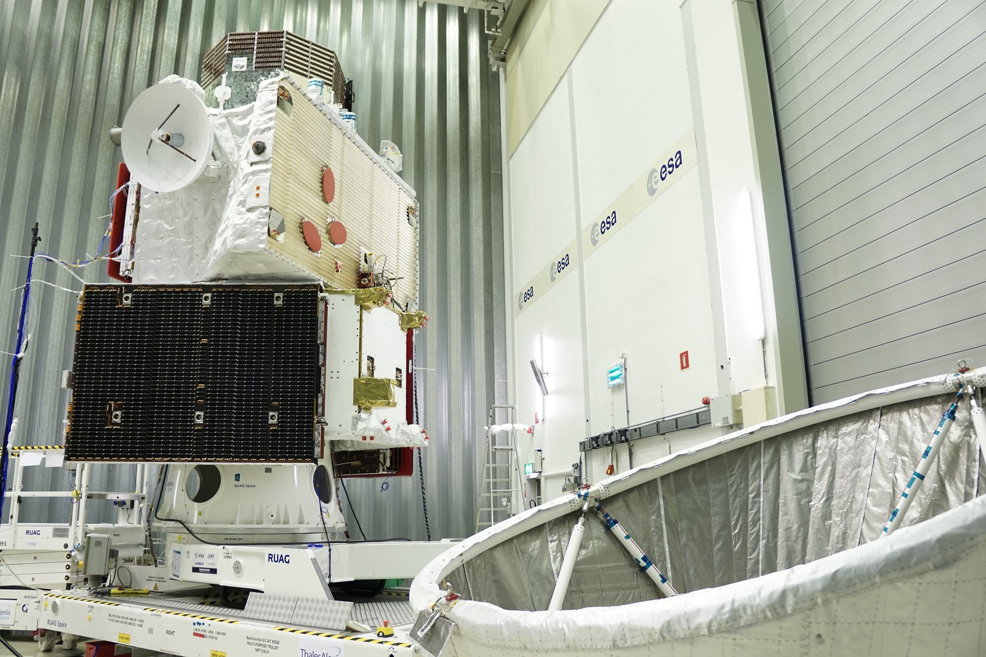 BepiColombo - Stack configuration and MOSIF