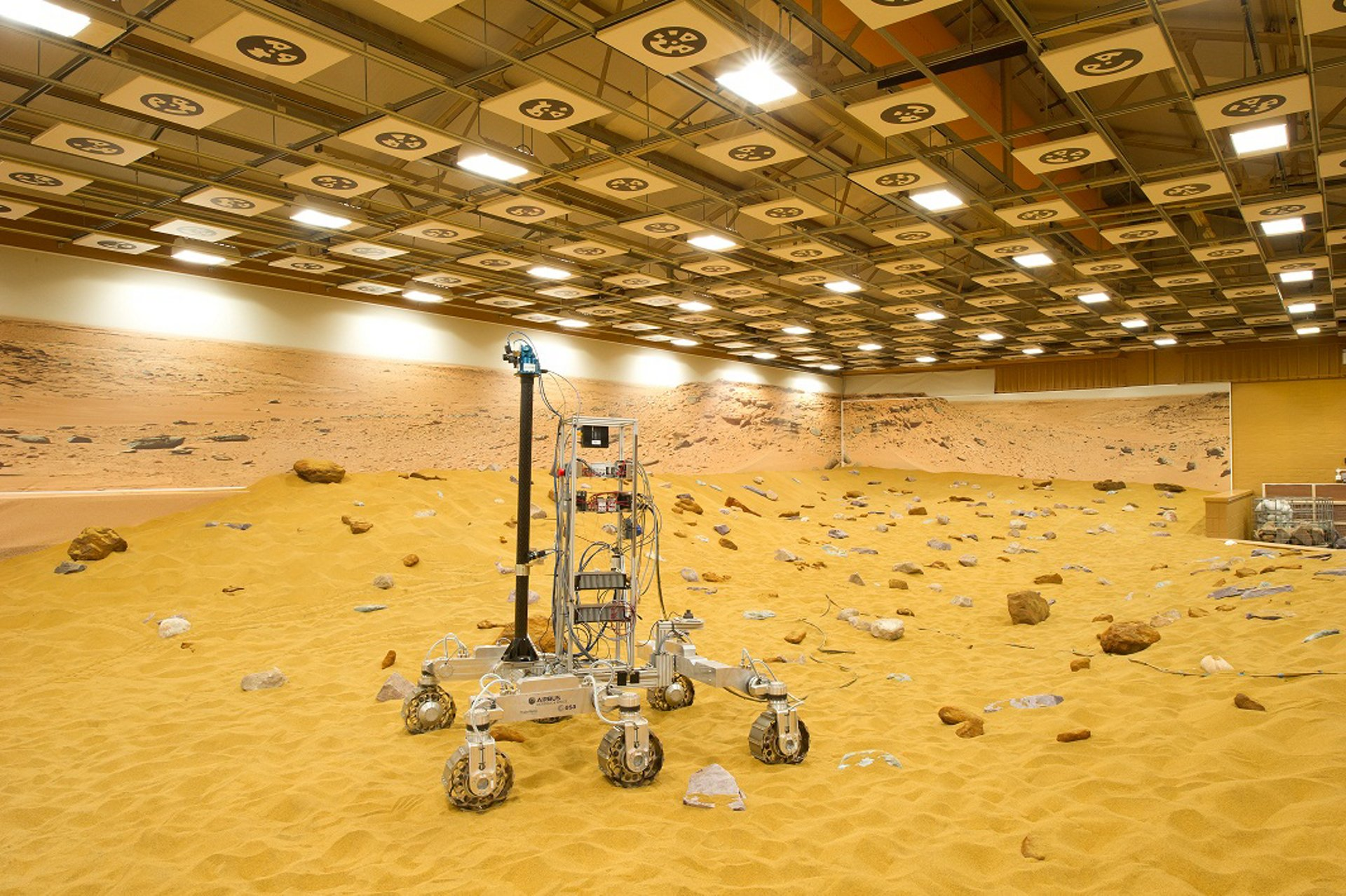 State-of-the-art extended Mars Yard rover test area at Stevenage site