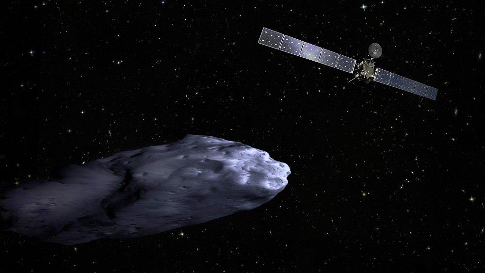 罗塞塔彗星探测器正在接近67P/ Churyumov-Gerasimenko彗星