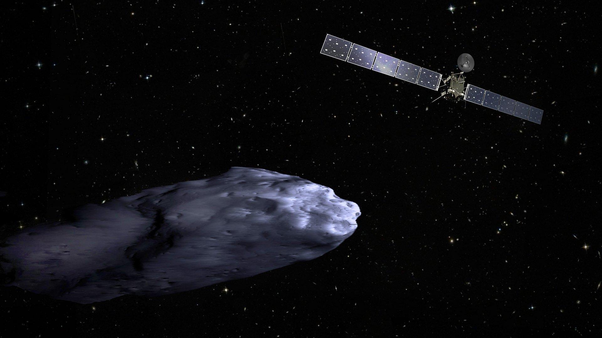 Rosetta, the comet probe, approaching the comet 67P/ Churyumov-Gerasimenko