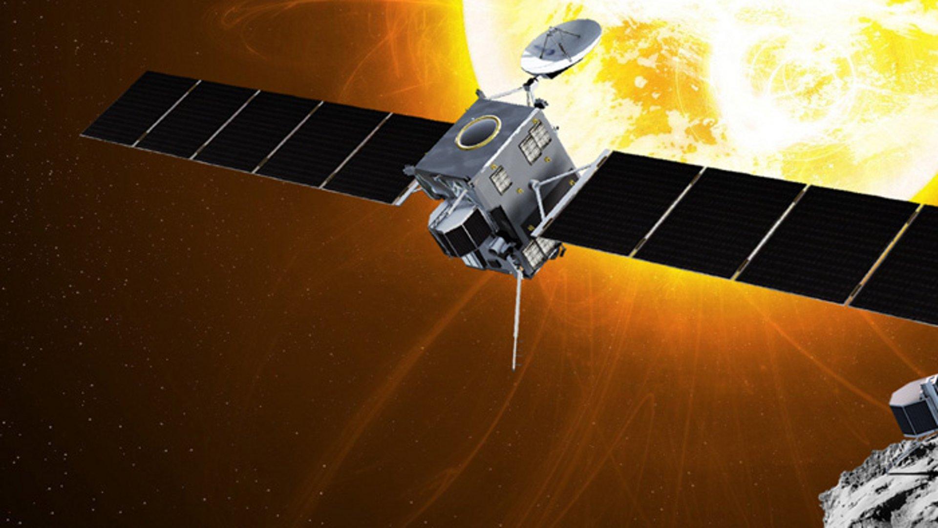 Rosetta probe on the spot