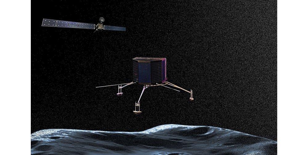 罗塞塔探测器和菲莱探测器将在67P/Churyumov-Gerasimenko彗星附近着陆