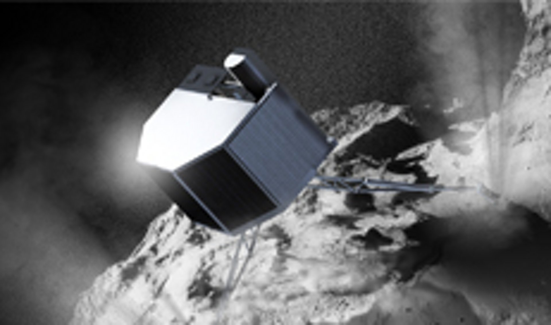 Philae landing on the comet