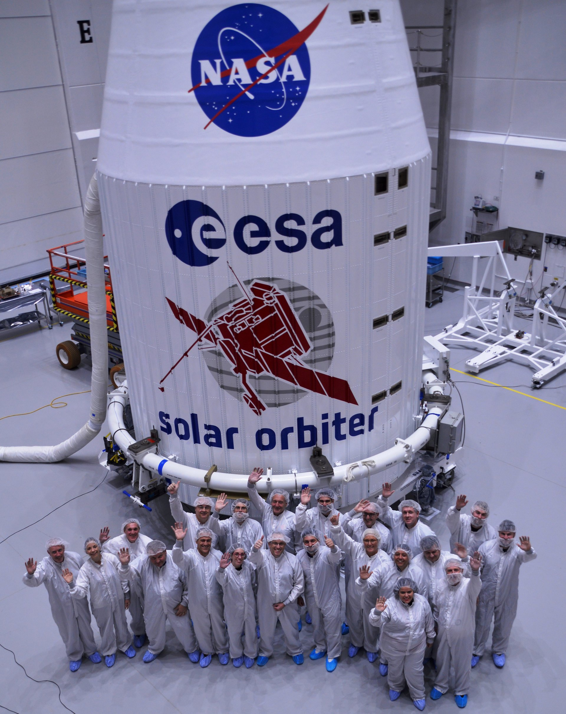 Airbus-built Solar Orbiter has been fitted inside the protective fairing