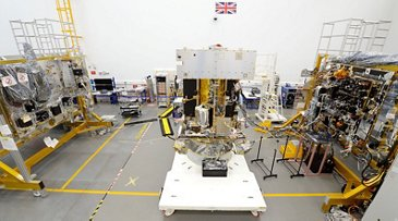 Airbus' Solar Orbiter in the final stages of integration in Stevenage, UK