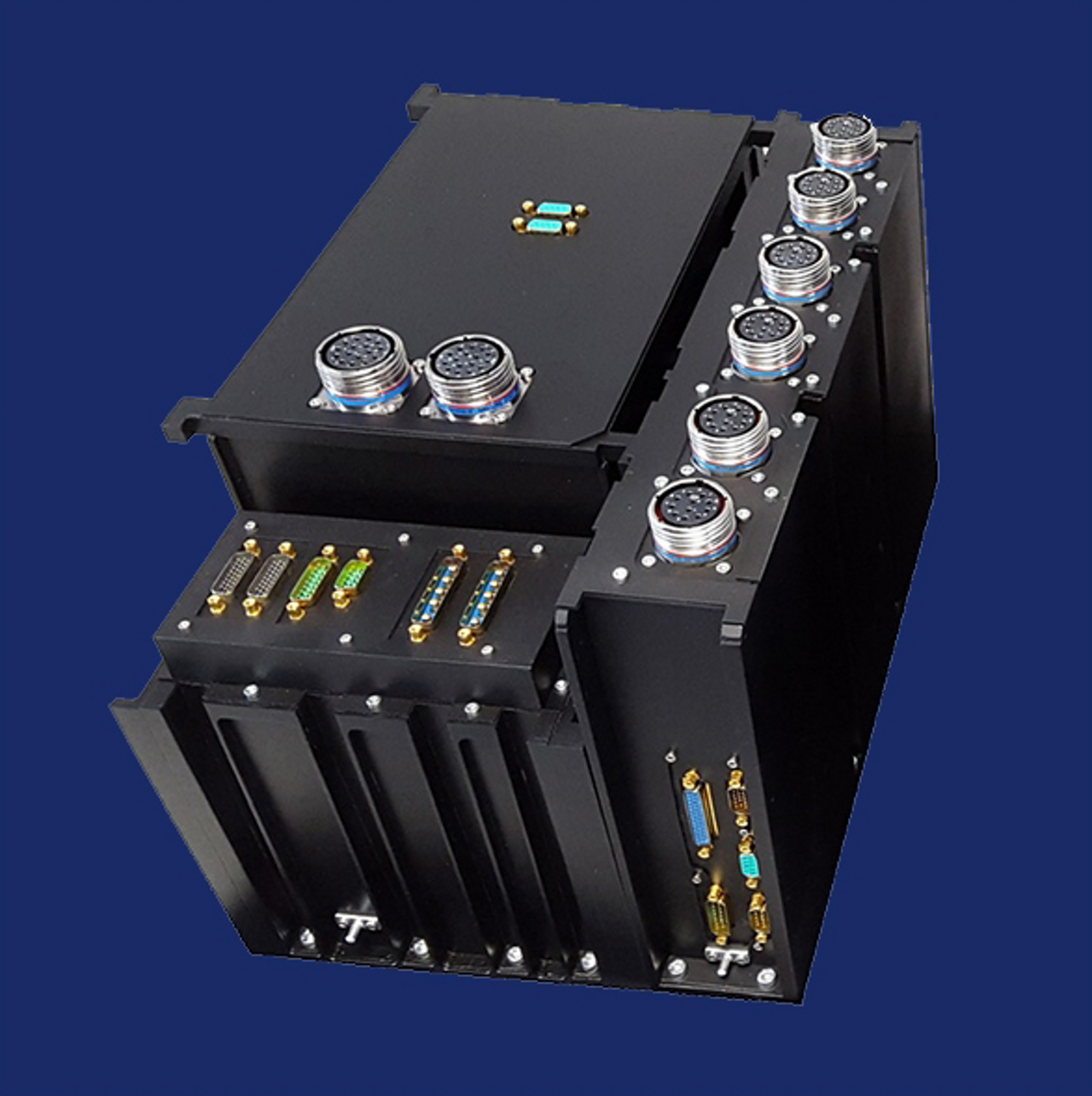 A digital rendering of Airbus' Elektro power processing unit (PPU) for hall effect thrusters.