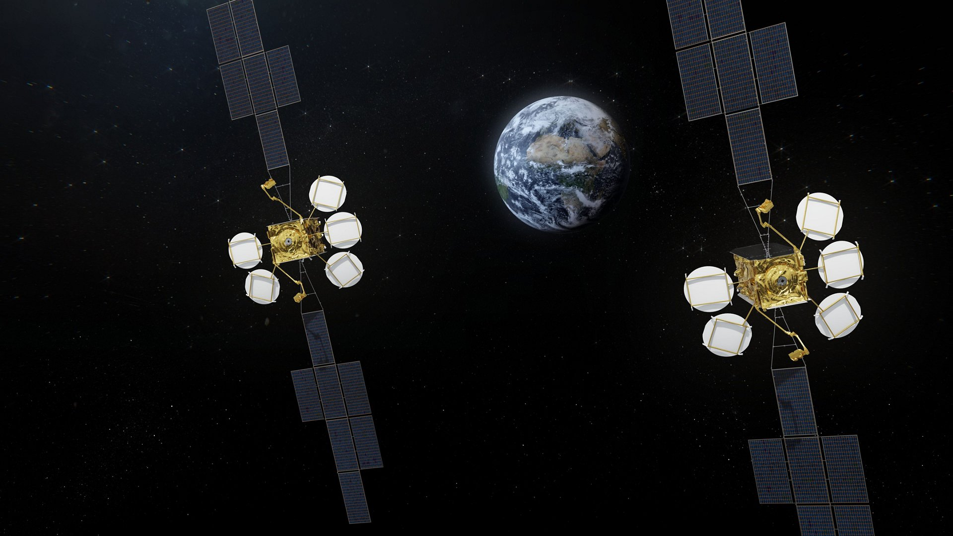 HotBird new generation satellites - Artist view